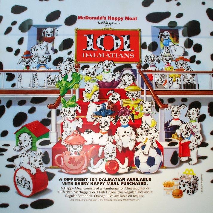 101 Dalmations McDonald/'s 1996 Poster