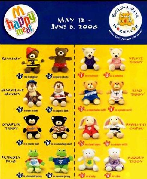 2006-build-a-bear-mcdonalds-happy-meal-toys