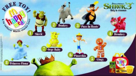 Mcdonald S Happy Meal Toys 2007 Shrek The Third Kids Time