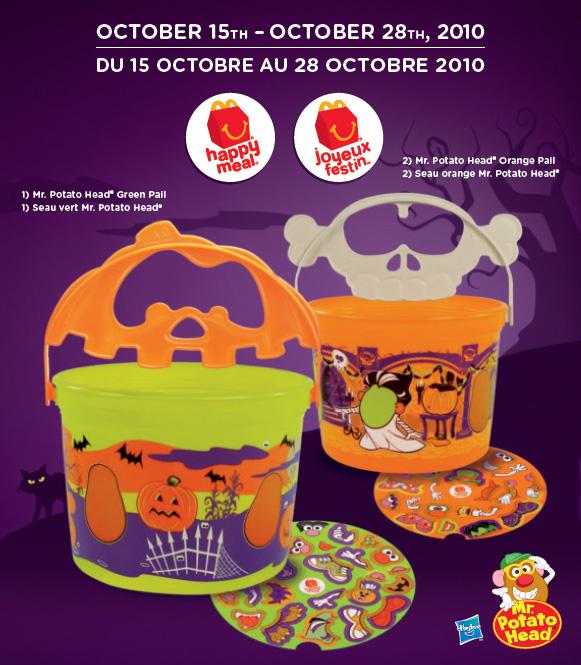 Mcdonalds Halloween Toys 2020 McDonald's Happy Meal Toys October 2010 – Halloween Pails Mr