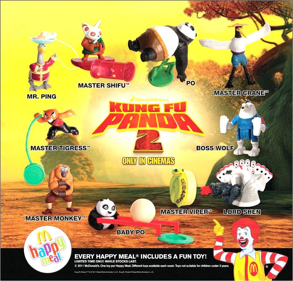 2008 Master Viper   Kung Fu Panda McDonald/'s Happy Meal unopened new