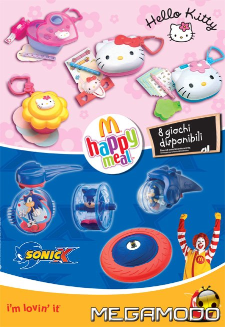 Mcdonald S Happy Meal Toys 2007 Sonic X Kids Time