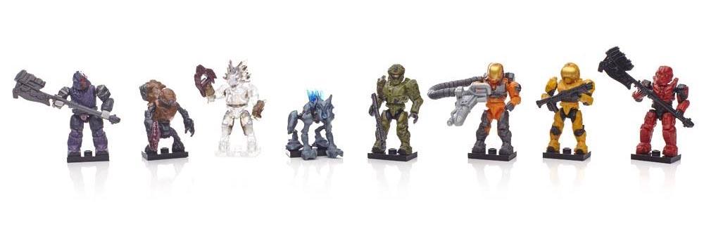 Halo Mega Bloks Series 7 UNSC Silver Security Spartan with Mauler Ultra Rare
