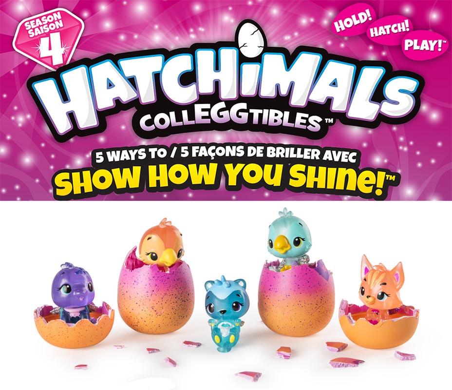 Hatchimals CollEGGtibles Season 4 Midnight Masquerade Set of 5 Flocked Figures