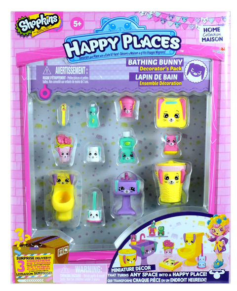Shopkins Happy Places Season 1 - Bathing Bunny Decorator's Pack