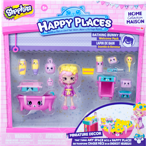Shopkins Happy Places Season 1 - Bathing Bunny Welcome Pack