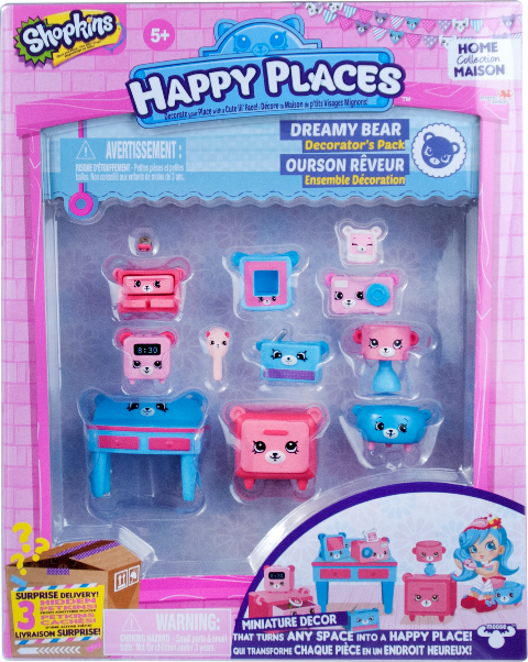 Shopkins Happy Places Season 1 - Dreamy Bear Decorator's Pack