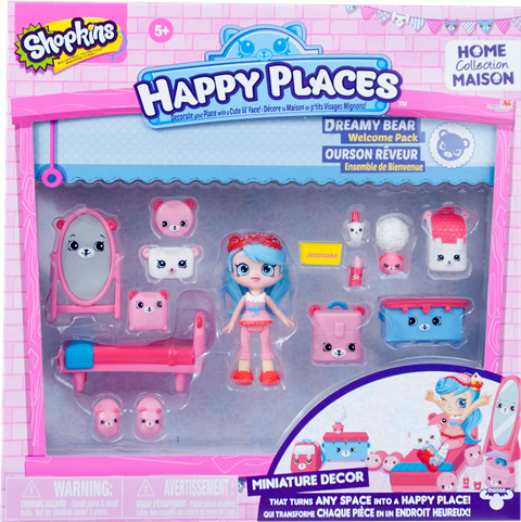 Shopkins Happy Places Season 1 - Dreamy Bear Welcome Pack