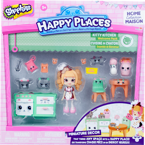 Shopkins Happy Places Season 1 - Kitty Kitchen Welcome Pack