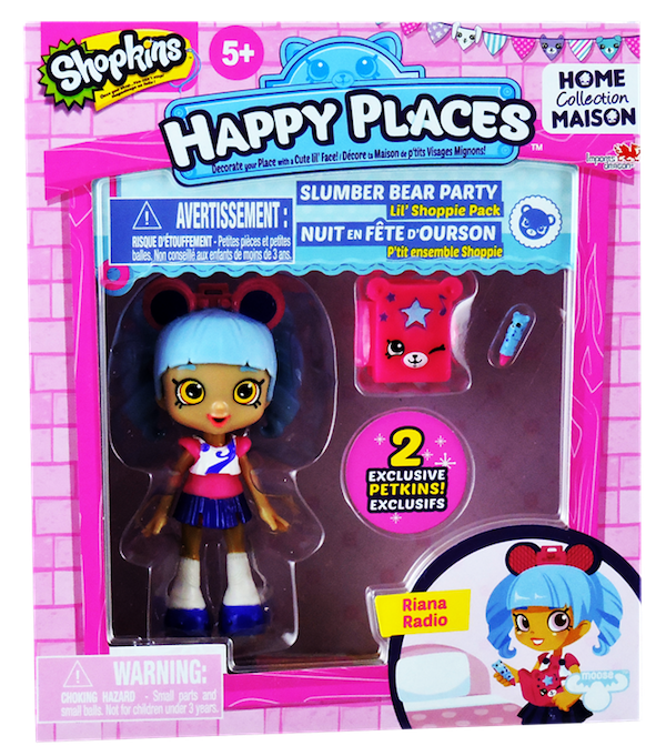 Shopkins Happy Places Season 1 - Lil' Shoppie Pack Riana Radio