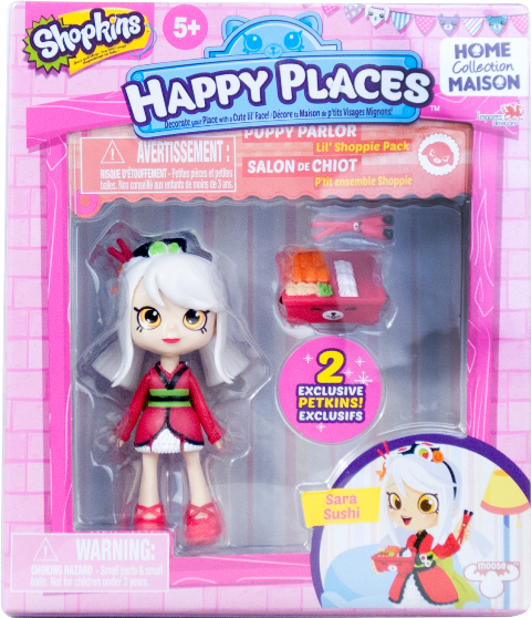 Shopkins Happy Places Season 1 - Lil' Shoppie Pack Sara Sushi