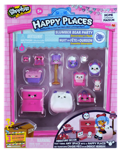 Shopkins Happy Places Season 1 - Slumber Bear Party Decorator's Pack