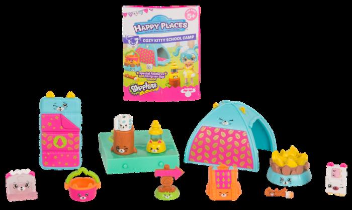 Shopkins Happy Places Season 4 - Cozy Kitty School Camp Decorator's Pack