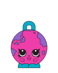 Lil' Globe #8-085 - Shopkins Season 8 - Bag Charms