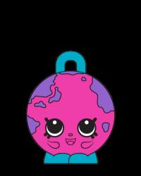 Lil' Globe #8-086 - Shopkins Season 8 - Bag Charms