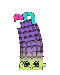 Lena Tower #8-088 - Shopkins Season 8 - Bag Charms