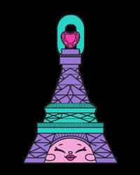 Frenchy Tower #8-089 - Shopkins Season 8 - Bag Charms