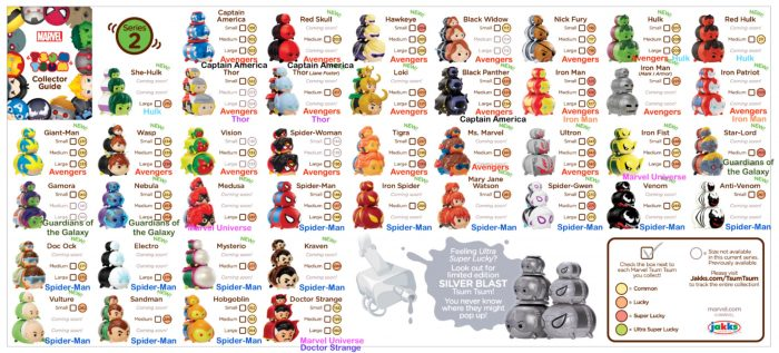 Marvel Tsum Tsum Season 2 Checklist