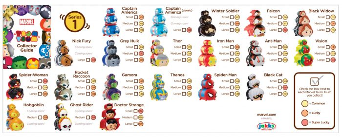 Marvel Tsum Tsum Season 1 Checklist