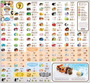 Tsum Tsum Series 7 Collector's Guide List Checklist