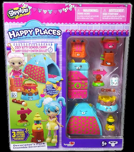 Shopkins Happy Places Season 4 - Cozy Kitty School Camp Decorator's Pack Box