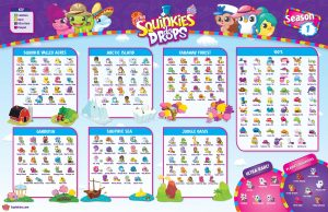 Squinkies Collector Poster Season 1 Checklist List