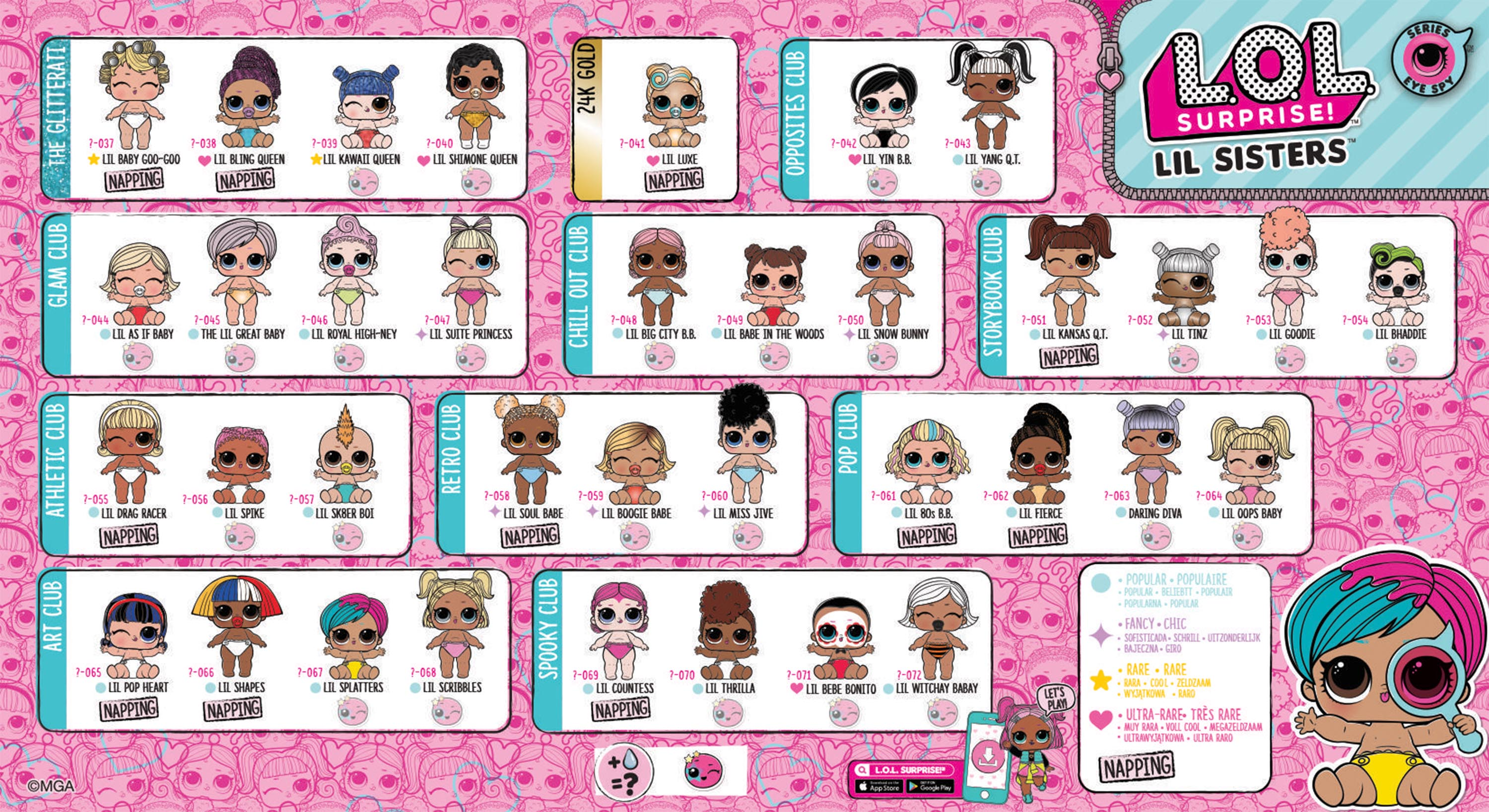 Lol surprise series 4 eye spy lil sisters wave 2 collector guide list checklist kids time