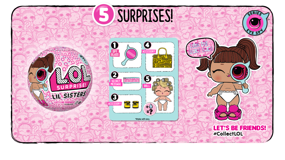 L O L Surprise Series 4 Lil Sisters Eye Spy List Of Characters Checklist Kids Time