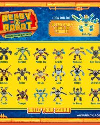 Ready 2 Robot Series 1 List of Characters Collectors Guide Checklist Front