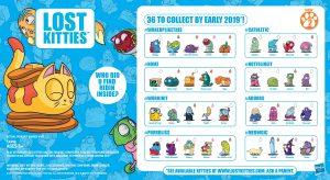 Rare Hasbro Lost Kitties Itty Bitty Figures Series 2~ #NOMZ Butternut