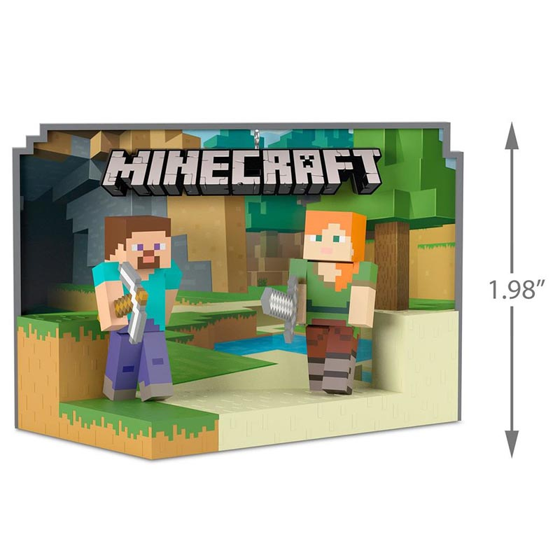 Hallmark Keepsake Ornaments List By Year 2018 Toys And Games Minecraft Steve And Alex Ornament Kids Time