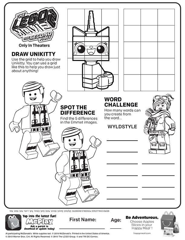 25 Wonderful Lego Movie Coloring Pages For Toddlers   792x612