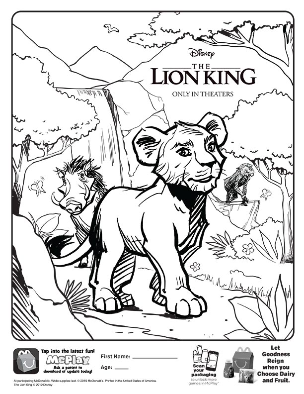 Pumbaa Coloring Pages. The Lion King Coloring Book For Kids - YouTube | 792x612