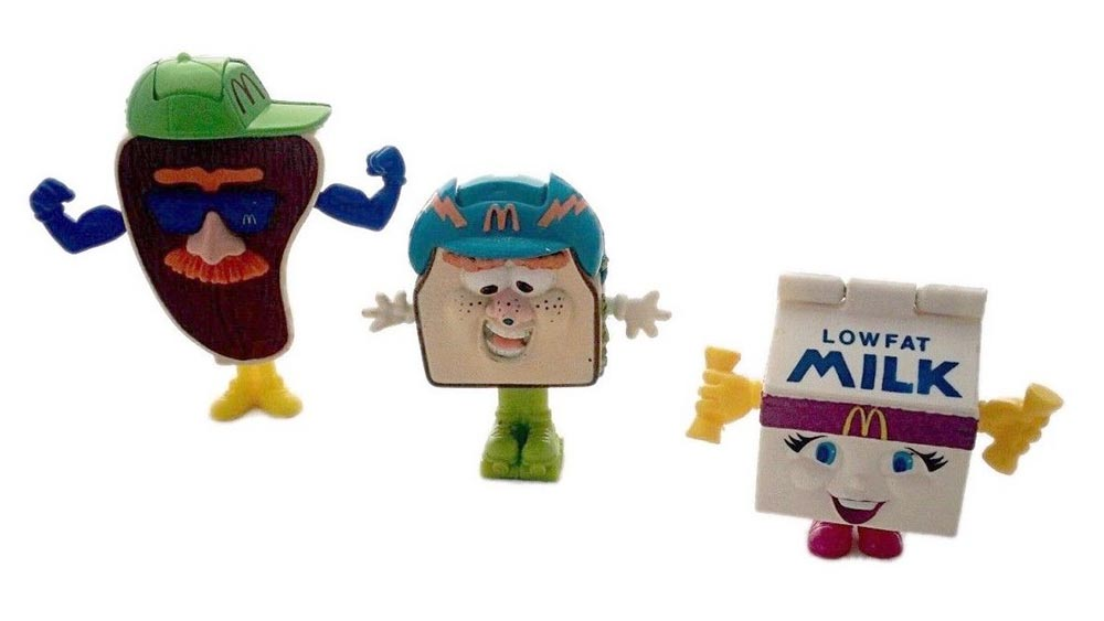 Slugger the Steak 1992 Food Fundamentals McDonalds Transformer Happy Meal Toy