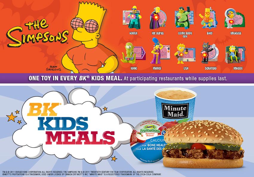 Burger King Halloween Kids Meal Toys 2020 Burger King Jr. Meal Toys 2011 – Simpsons Halloween – Kids Time