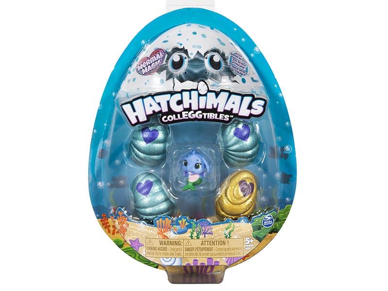 Hatchimals CollEGGtibles, Mermal Magic 4 Pack + Bonus with Season 5 Hatchimals