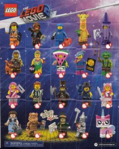 Lego Minifigures Sets The Lego Movie 2 Checklist Insert Collectors Guide