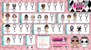 LOL Surprise Makeover Series 5 Collector Guide List Lils Checklist Insert