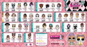 LOL Surprise Makeover Series 5 Wave 2Collector Guide List Lils Checklist Insert