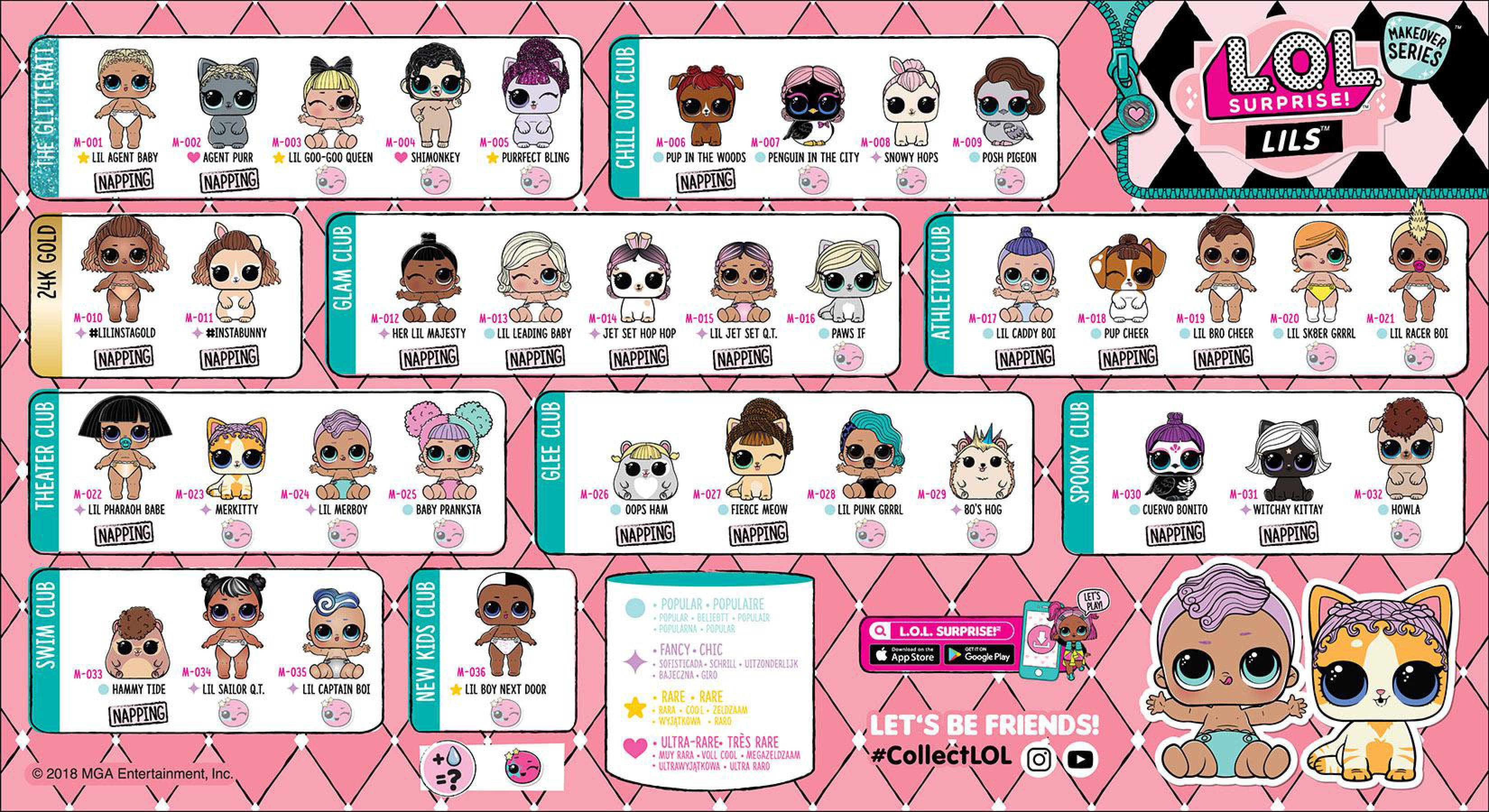 Lol Surprise Makeover Series 5 Wave 2 Collector Guide List Lils Checklist Insert Kids Time