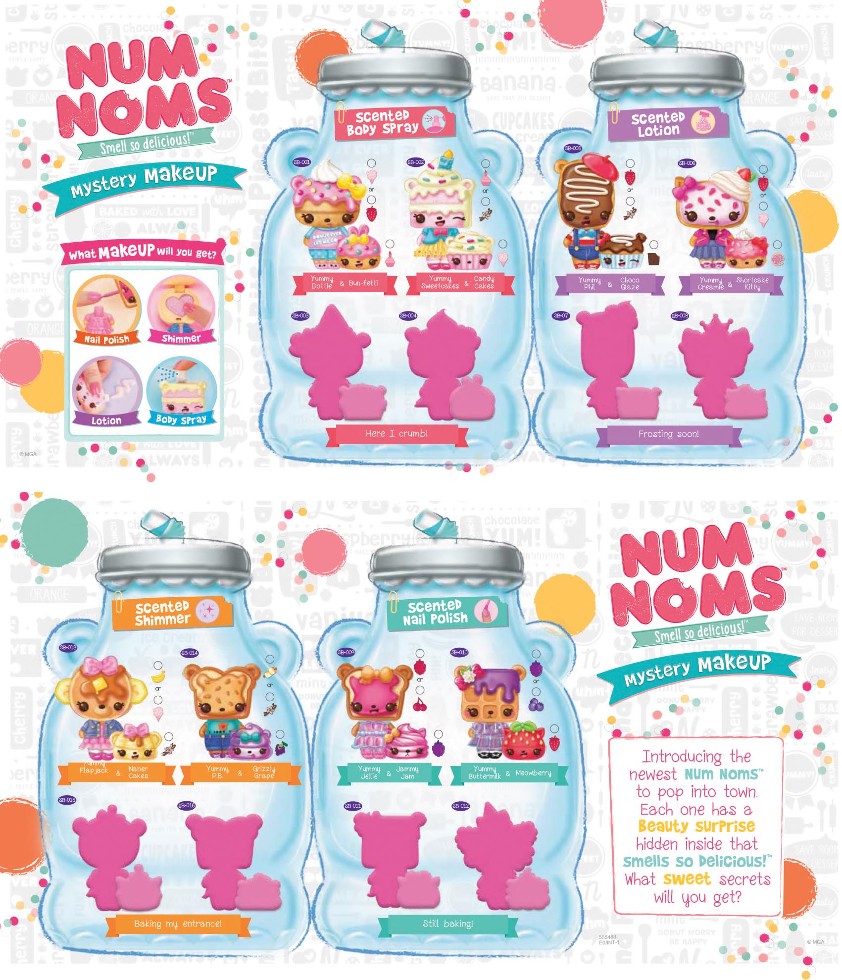 Num Noms Mystery Makeup Collector Guide List Checklist Kids Time