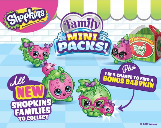 Shopkins Season 11 Family Mini Packs - List of Characters