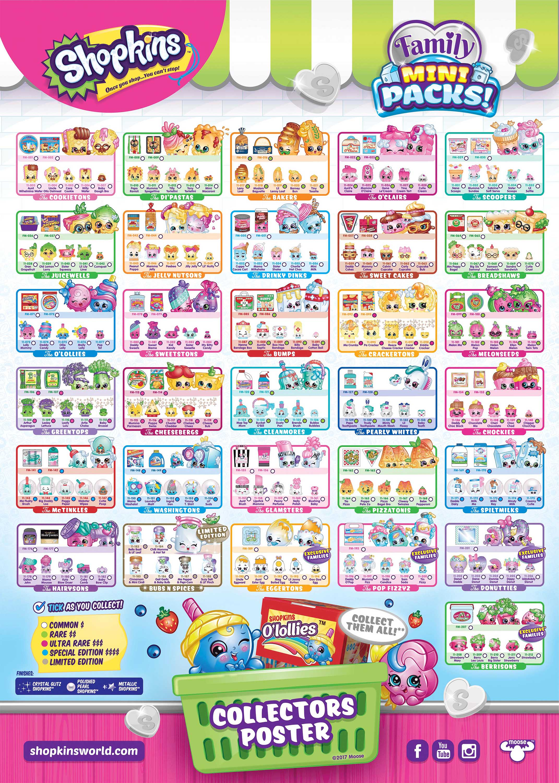 Shopkins Season 5 Collectors List Guide Combined Postage