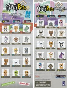 Feisty Pets Mini Misfits Mystery Pack Blind Box Figures List Checklist Insert