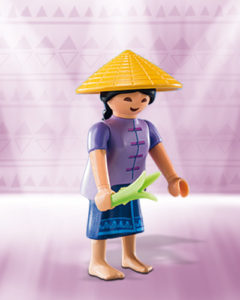 Playmobil Figures Series 10 Girls - Chinese Farmer
