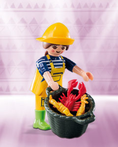 Playmobil Figures Series 10 Girls - Fisherwoman