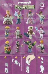 Playmobil Figures Series 10 Girls List Checklist Collector Guide Insert