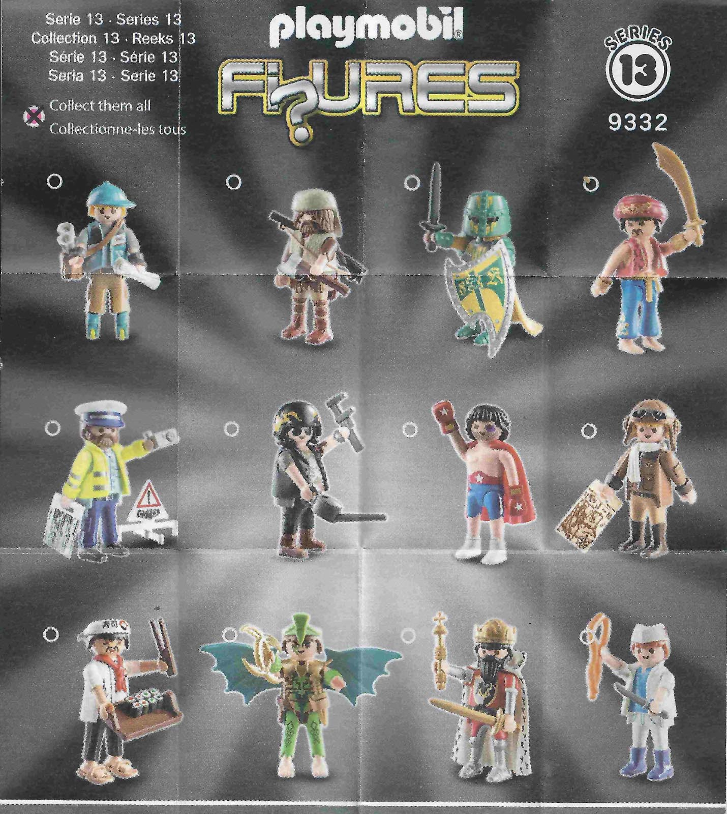 Playmobil Figures Series 13 Boys List Checklist Collector Guide Insert Kids Time