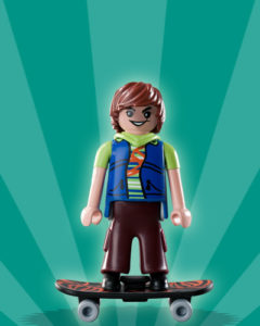 Playmobil Figures Series 2 Boys - Skateboarder