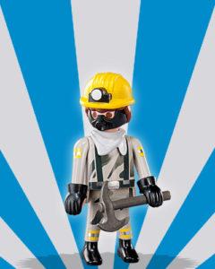 Playmobil Figures Series 5 Boys - Mine Worker